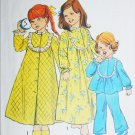 Simplicity 6687 childs nightgown and robe size 6X pattern