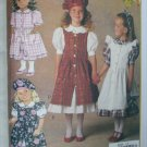 Butterick 6430 girls dress beret overdress UNCUT sizes 5 6 6X