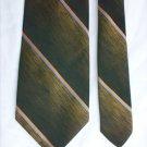 Man's tie by Grenada polyester loden green stripes 3 1/2 inch necktie