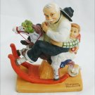 Rockwell figurine Danbury Mint Gramps at the Reins 1980 porcelain 6 inches