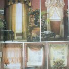 Simplicity 5058 Victorian windows UNCUT patterns for shade drapery panel swag curtain