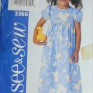 Butterick 3368 girls dress sizes 2 3 See & Sew pattern
