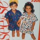 Butterick 5306 See & Sew child pattern shorts shirt sizes 2 3 4