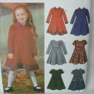 Simplicity 5827 girls child dress sizes 3 4 pattern sleeve collar variations