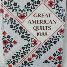 Great American Quilts 1988 craft book patterns for stunning quilts