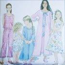 Simplicity 9292 girls pajamas robe nightgown sizes 3 4 5 6 cut used pattern