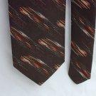 Vintage Cappaccino man's necktie brown with accents neck tie 3 inch