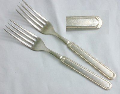 IS Rogers silverplate LaSalle forks La Salle silver plate flatware old version