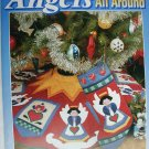Angels All Around designs for applique or quilting craft booklet House of White Birches