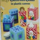 American School Needlework Bathroom Boxes in plastic canvas patterns
