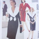 McCall 4595 dress pullover wide collar size 10 UNCUT 1989 pattern