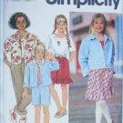 Simplicity 7951 girls jacket skirt pants shirt UNCUT sizes 7 8 10