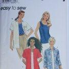 Simplicity 7122 misses shirt top sizes L XL UNCUT pattern