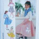 Simplicity 7269 girls flared skirt poodle design sizes 7 8 10 UNCUT pattern
