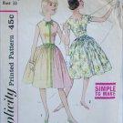 Simplicity 4397 misses dress vintage 1950s pattern size 14s bust 33