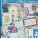 Leisure Arts 1736 Beginner's Guide to Rubber Stamping craft book