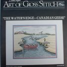 Cross stitch pattern The Water's Edge Canadian Geese by Linda Myers