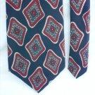 Man's tie Stafford 100% silk navy with burgundy pattern