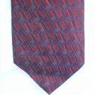 "Man's tie Stafford Executive 100% silk 4"" burgundy blue purple"