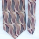 """Man's tie Croft and Barrow 100% silk 4"""" browns and gray pattern"""