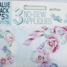 Daisy Kingdom 3 No-Sew Appliques value pack flowers rabbits