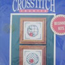 Bernat Cross stitch kit Lattice for beginners 5 x 5 inches sealed