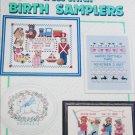 Birth Samplers in cross stitch American School of Needlework 9 designs 3519