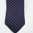 Zylos by George Machado tie 100% silk navy with gold accents tie