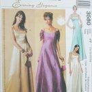McCall 3580 formal dress gown misses 16 18 20 22 UNCUT pattern