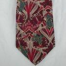 Principe necktie 100% silk Italy wild burgundy gray pattern blue accents