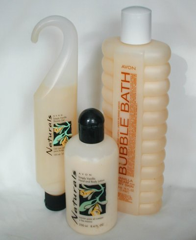 Avon Naturals Simply Vanilla Lotion Shower Gel Plus A