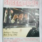 November 1983 sheet music magazine Arthur's Theme and other songs Easy Organ