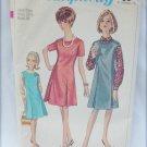 Simplicity 6701 misses jumper dress size 18 1/2 vintage 1966