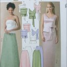 McCall 4710 misses elegant top skirt for evening sizes 6 8 10 12 UNCUT pattern