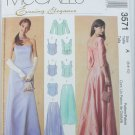 McCall 3571 misses evening top and skirt sizes 6 8 10 UNCUT pattern