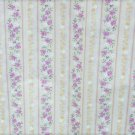 Wamsutta quilting fabric 32 x 45 inches stripes pale beige rose white flowers