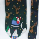 Christmas tie 100% silk Santa & reindeer from Save the Children Collection
