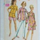 Simplicity 7601 shirtdress blouse pants vintage 1968 pattern size 20 1/2 UNCUT