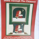 St. Nicholas Santa by the Chimney quilt pillow pattern Country Appliques