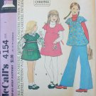 McCall 4154 girl's jumper or top size 7 UNCUT pattern