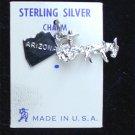 Sterling charm Arizona mule pulling wagon made USA bracelet jewelry