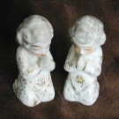"Takiya made in Japan two praying angels china 2 3/4"" set of 2"