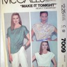 McCall 7009 pullover blouses uncut pattern size Medium 14 to 16