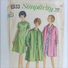 Simplicity 6933 misses dress & coat size 20 B40 vintage 1966 pattern