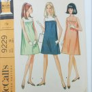 McCall 9229 misses maternity dress size 10 vintage 1968 pattern