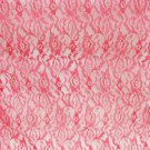 Red lace fabric for dress overlays or trim sheer 2 yards x 44 inches