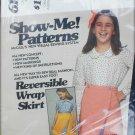 McCall 6146 Girl's reversible wrap skirt sizes 8 10 12 UNCUT but no envelop