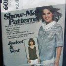 McCall 6011 misses jacket & vest sizes 10 12 14 UNCUT but no envelop