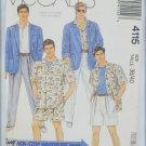 McCall 4115 man's jacket, shirt pants shorts size 38 40 UNCUT pattern