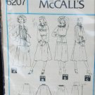 McCall 6207 misses top peasant style and skirt size 14 UNCUT pattern retro